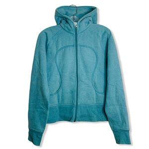 LULULEMON Jacket Turquoise Scuba Hoodie